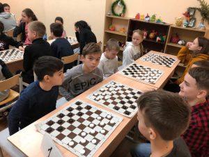 Зимний этап шашечного турнира